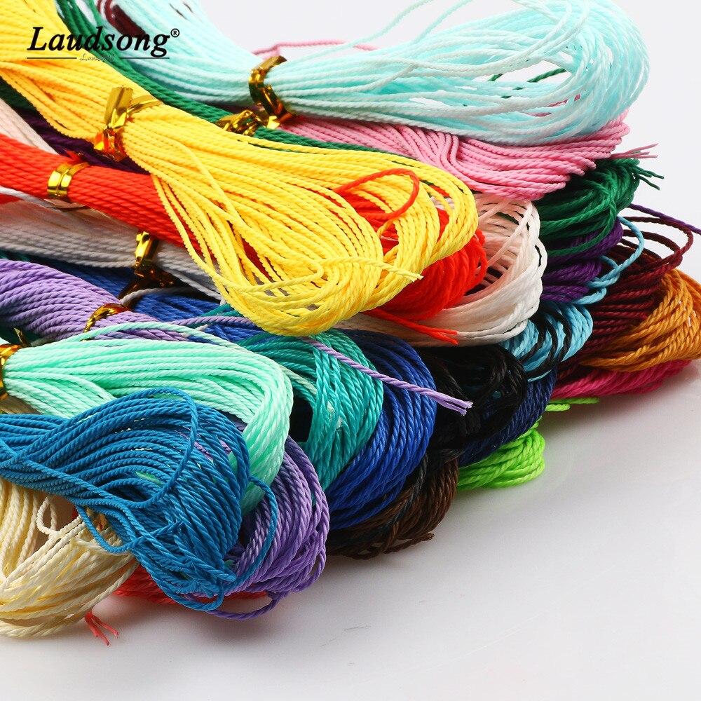 10 м 1 мм восковая хлопковая нить веревка цветная для украшения ручной работы DIY браслет для изготовления ювелирных изделий бисерная веревка ...