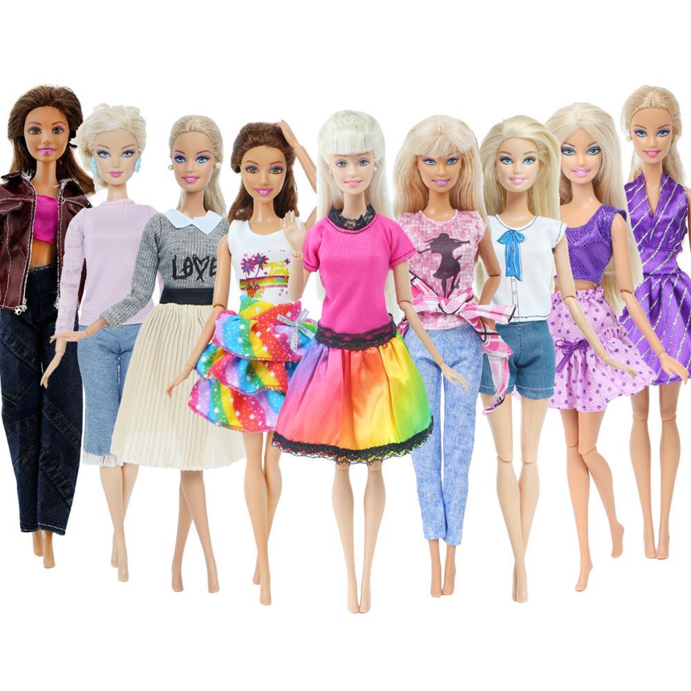 1x модное Кукольное платье Повседневная одежда юбка брюки жилет джинсовое пальто кукольный домик аксессуары наряд Одежда для куклы Барби