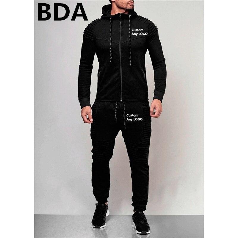 BDA Mann Irgendeine Logo Sweatshrts männer Sport Hoodies Sets Unisex Frühling Anzüge Oberbekleidung Zipper Fleece Männlichen Mäntel Trainingsanzüge