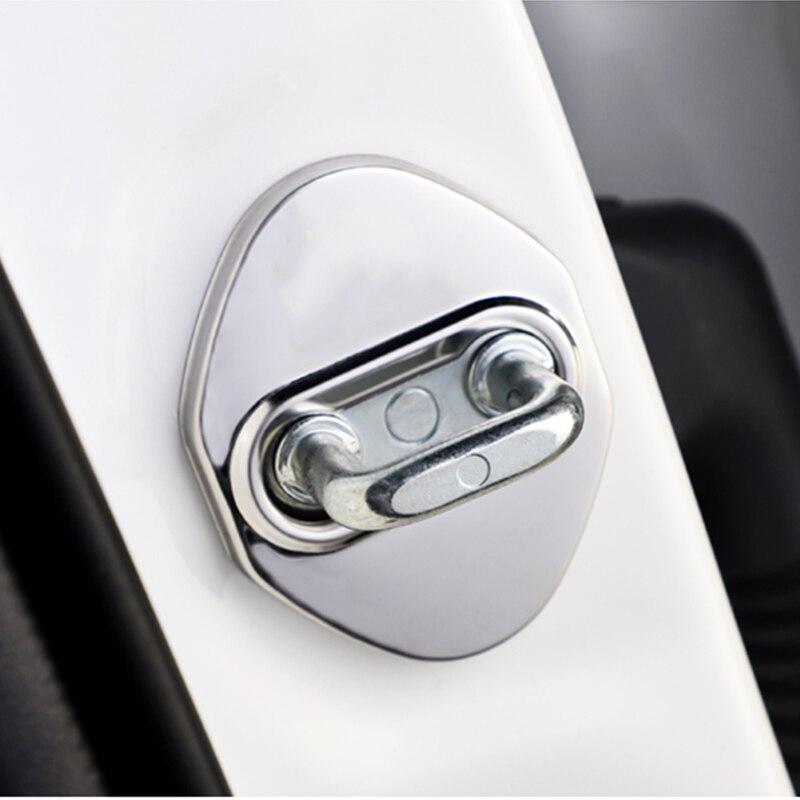 Cerradura de puerta cubiertas de coche de acero inoxidable 4 Uds estilo de coche para Toyota RAV4 C-HR CHR 2017 2018 2019 2020 accesorios para automóviles