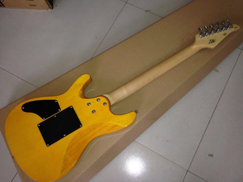 maple fingerboard electric guitar.blue color flame maple top gitaar,handmade 6 stings guitarra enlarge