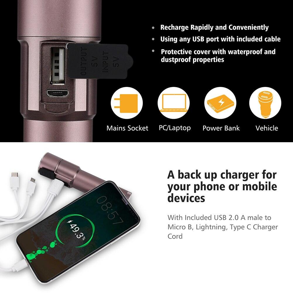 Foxhawk Powerful Flashlight,High Power LED Torch Flashlight,Aluminum Alloy Housing,Waterproof, Strobe/SOS Mode,Multifunctional enlarge