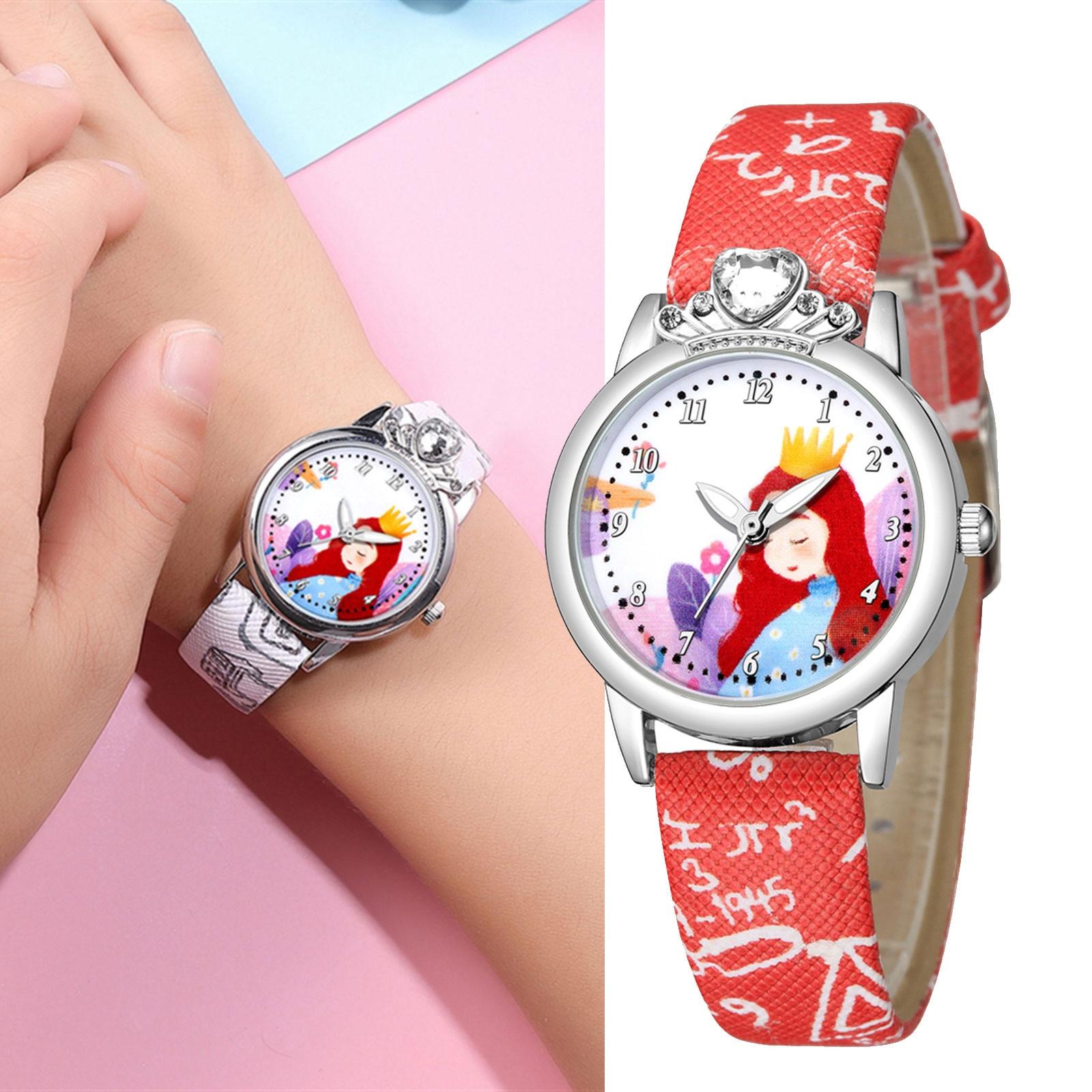 Child Fashion Wristwatches Time Clock Gift Orologio Per Bambini Children Quartz Watches Leather Band