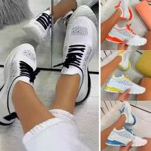 Women Running Trainers Lace Up Jogging Fitness Sock Sports Walking Gym Shoes