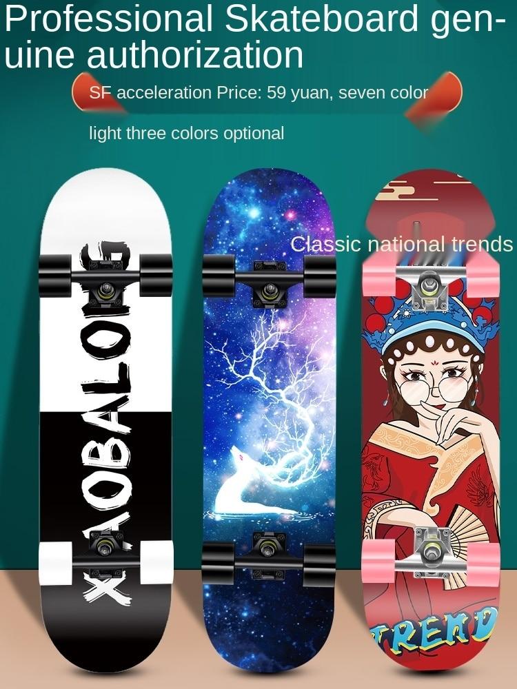 Скейтборд для начинающих, для взрослых, мальчиков, девочек, подростков, скейтборд для взрослых и детей, короткий скейтборд, профессиональны...