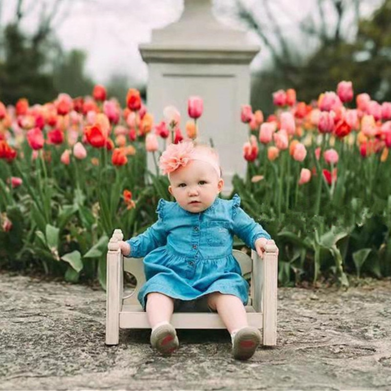 Baby Photography Accessories Wood Hollow Curved Bed Newborn Photo Shoot Props For Kids Boy Girl Fotografia Wooden Chair Counch enlarge