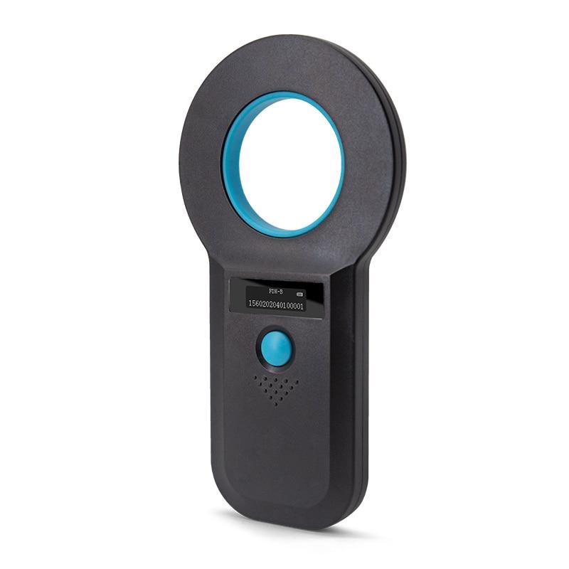 Handheld FDX-B Animal Tracker ISO 11784/5 Pet ID Reader for 134.2Khz Chip sensor USB RFID Dog Cat Microchip Scanner enlarge