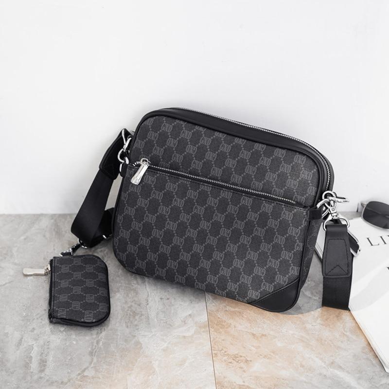 DAEYOTEN Multifunction Composite Bag Business Men's Bags Designer Shoulder Messenger Bag Detachable Men Handbag Purse ZM1059