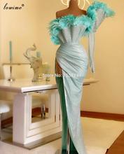Grande taille Champagne paillettes robes de soirée manches longues robes de soirée formelles Dubai robes de bal femmes soirée Sukienki