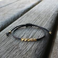 Nette Bär Mode Tibetischen Kupfer Bead Armband Männer Frauen Einfache Einstellbare Gute Glück Freundschaft Armband & Armreifen Liebhaber Geschenke