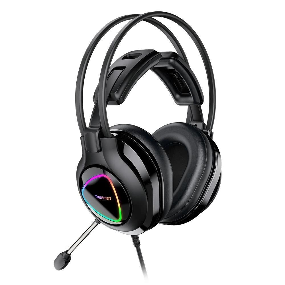 Tronsmart-auriculares Glary Alpha para videojuegos, con iluminación LED colorida, 3,5mm + USB,...