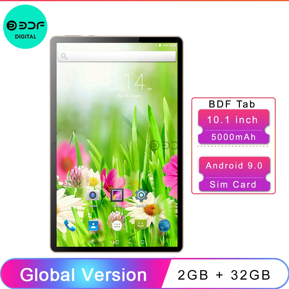 2021 Pro 10.1 Inch AI Speed-up Tablet PC SC9863A Octa Core Android 9.0 Dual 4G Network LTE Wifi Type-C Rear Camera GPS Tablette
