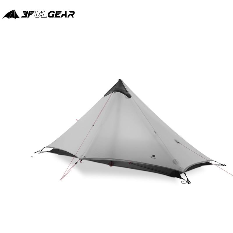 3F UL GEAR LanShan 1 Outdoor Ultralight Camping Tent 1 Person 3 Season Professional 15D Silnylon LanShan1 Rodless Tent недорого