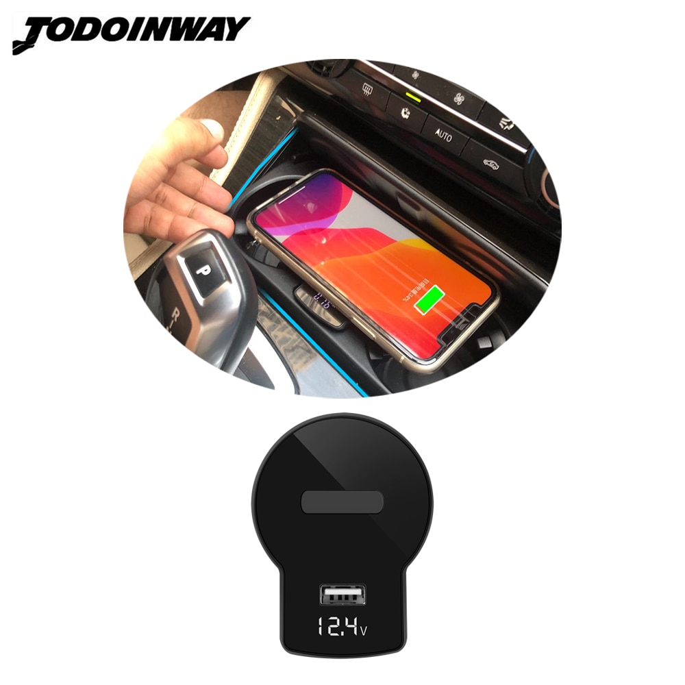 Review Car wireless charger for bmw 5 series F10 F18 520i 523i 535i smart sensing charge lighter adapter for iphone 11 charging board