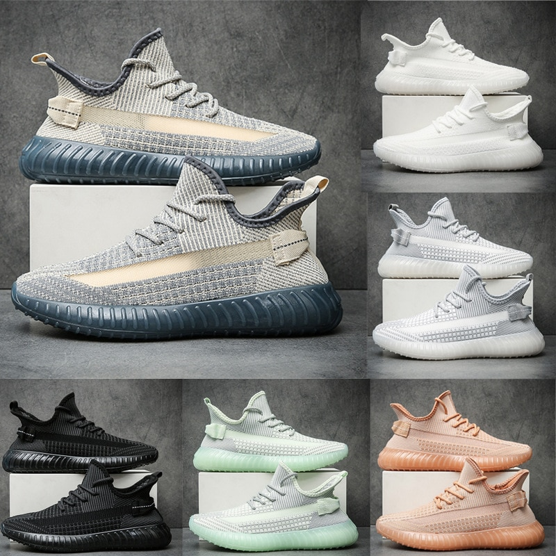 2021 Breathable Flying Woven Coconut Shoes 350V2 Men and Women Same Couple Shoes Quality Men's Shoes