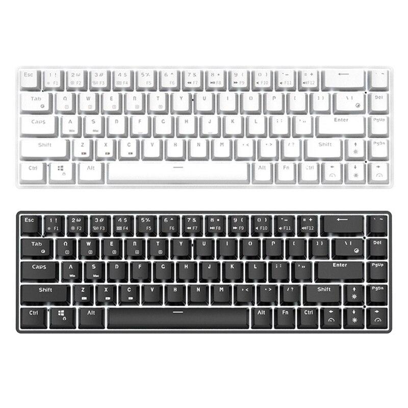 X3UA RK68 RK855 لوحة مفاتيح الألعاب 68Key RGB الخلفية 2-Color حقن Wirless مبادلة ساخنة