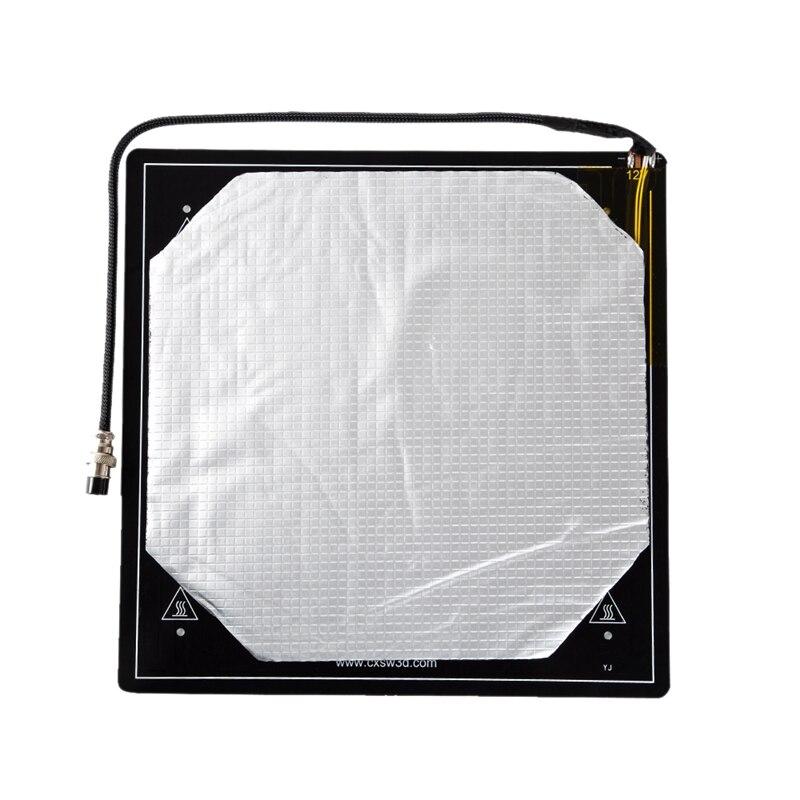 ثلاثية الأبعاد منصة السرير ساخنة عدة سبائك الألومنيوم الطباعة بناء لوحة حجم 310x310 مللي متر كابل مثبتة جيدا مع عازل حراري Cott