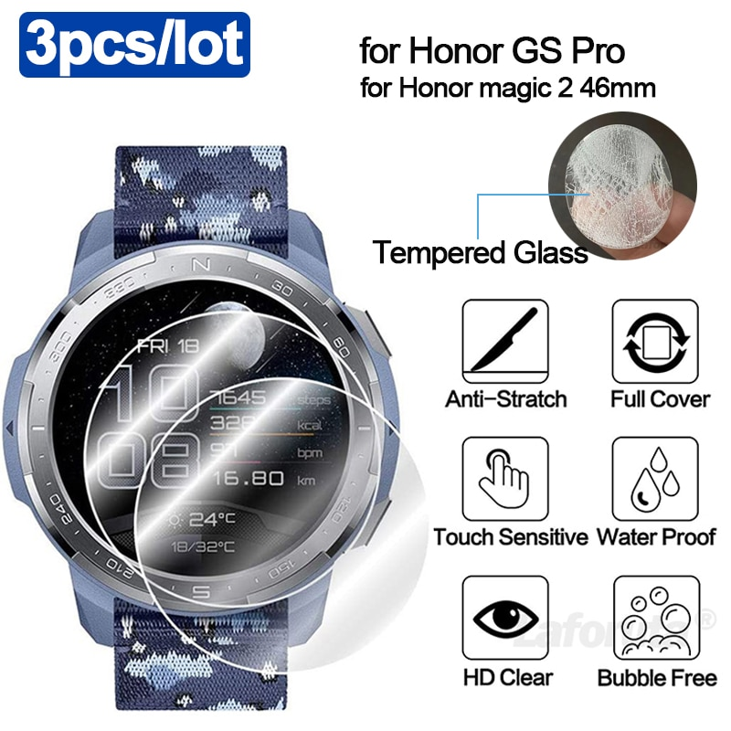 for Honor Watch GS Pro Screen Protector 9H Tempered Glass for Honor Watch Magic 2 46mm Accessories P
