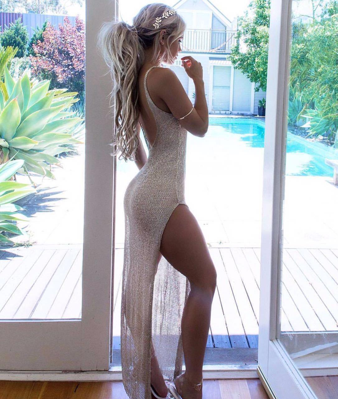 Nieuwe Hot Sale Zomer Mesh Sheer Lange Cover-Ups Vrouwen Badpak Bikini Cover Up Beach Jurk Badmode Badpak jurk