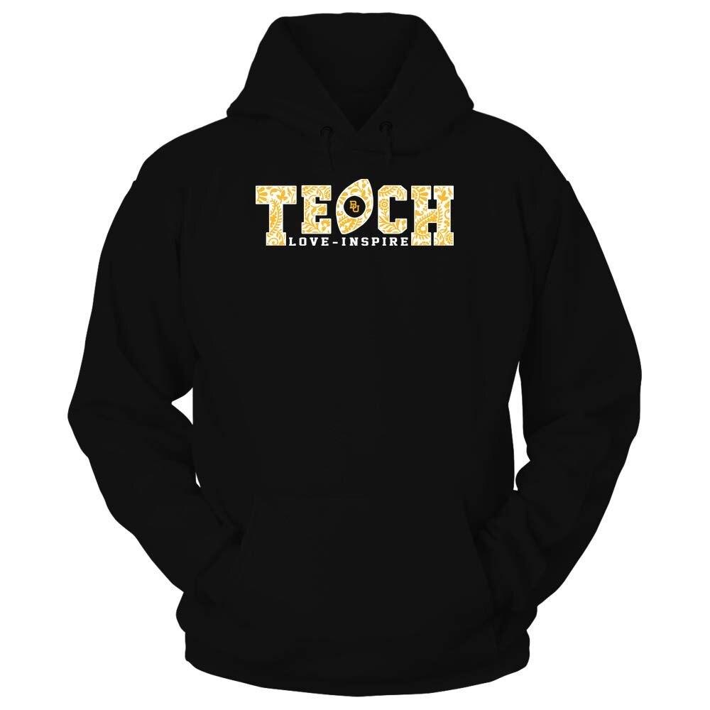 TSDFC Baylor Bears T-Shirt - Teach Love Inspire - Paisley Pattern Football unisex men women hoodie