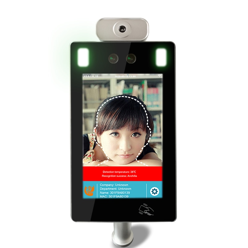 Brand New Body Temperature Face Recognition Door Access Control System For Turnstile Barrier Gate enlarge