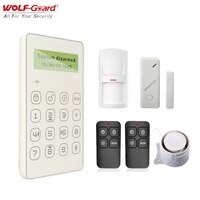 Loup-garde GSM SMS maison intelligente alarme securite cambrioleur systeme App controle porte fenetres capteur PIR detecteur de mouvement KeyFobs 433MHz