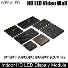WERA LED P2 P2.5 P3 P4 P5 P6 P10 Polychrome Dintérieur LED Module SMD 3-en-1 mur vidéo LED Panneau Daffichage 1/8 à 1/32 Scan