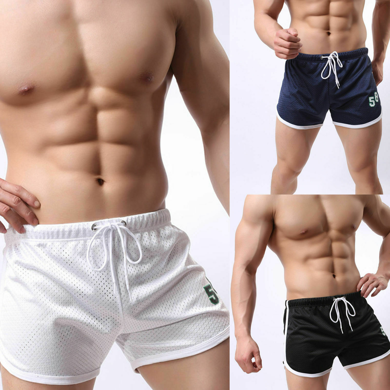 Mens Running Shorts Training Workout Bodybuilding Gym Sports Men Casual Clothing Male Fitness Jogging