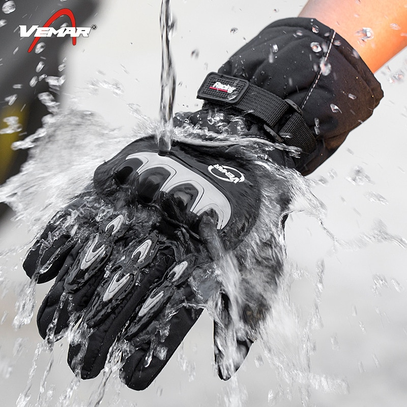 Winter Motorcycle Gloves 100% Waterproof Touch Screen Warm Moto Glove Men Protective Moto Cycling Guantes Motocross Gloves enlarge