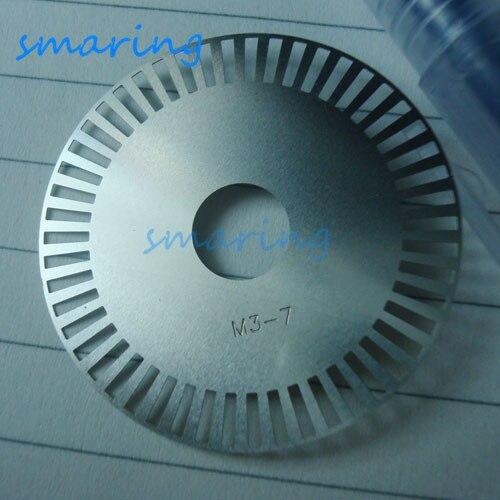 Código de M3-7 personalizado, PLACA DE CÓDIGO DE Metal, codificador fotoeléctrico, rueda de medición, diámetro exterior, disco de código ráster de 35MM 50 líneas