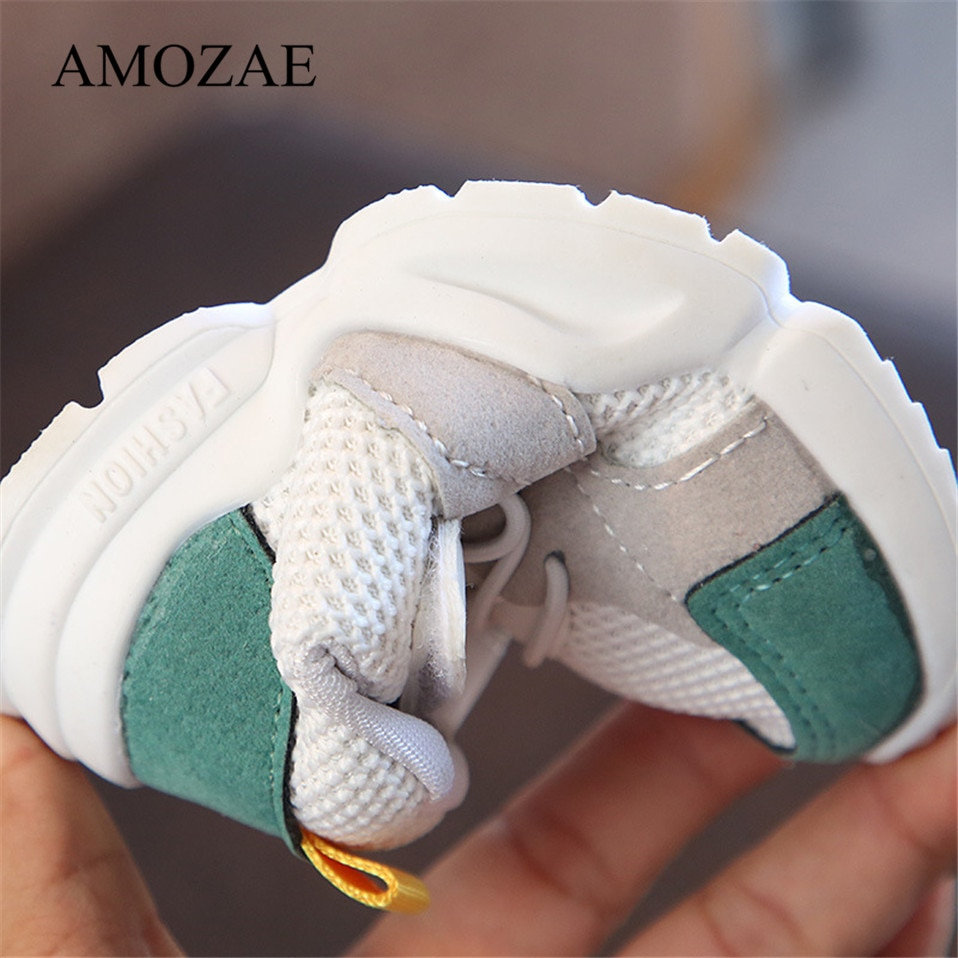 2020 New Spring Autumn Children Shoes Unisex Toddler Boys Girls Sneakers Mesh Breathable Fashion Casual Kids Shoes Size 21-30