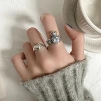 fashion vintage heart tassel zircon rings for women bridal wedding jewelry elegant valentine artistic design finger ring gift