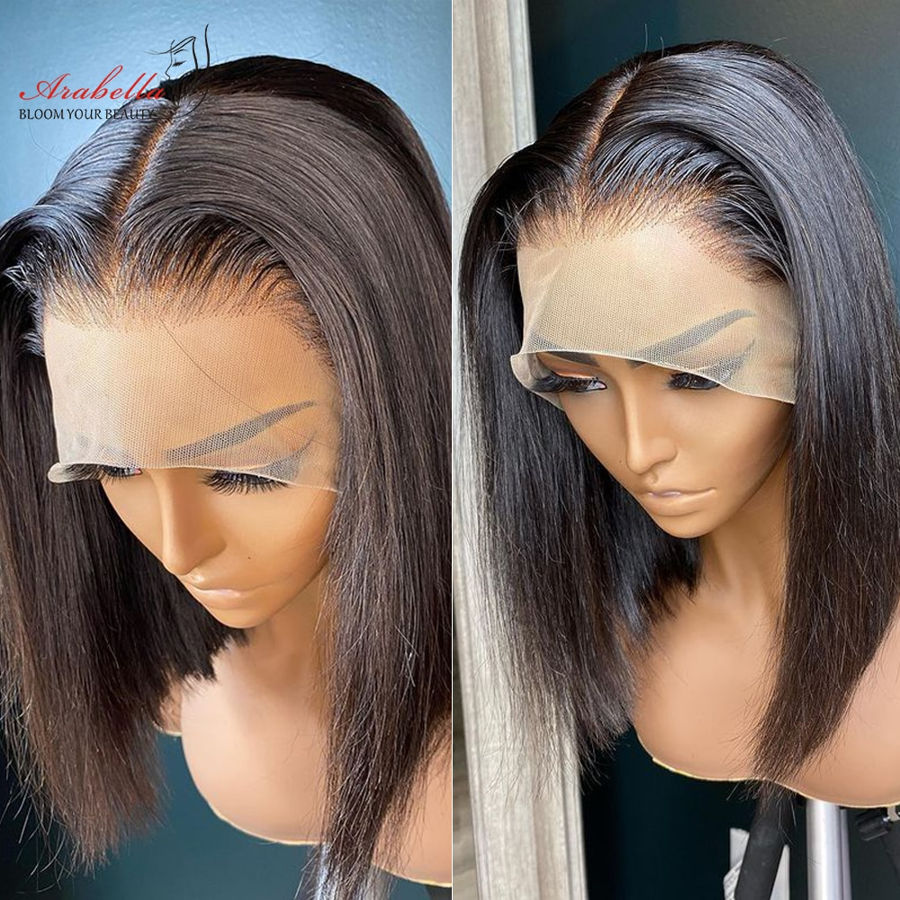 Cheap Bob Wig Lace Front Wig Human Hair Wig With Baby Hair Pre Plucked Bleached Knots Arabella Hair T Part Lace Front 13x5x2