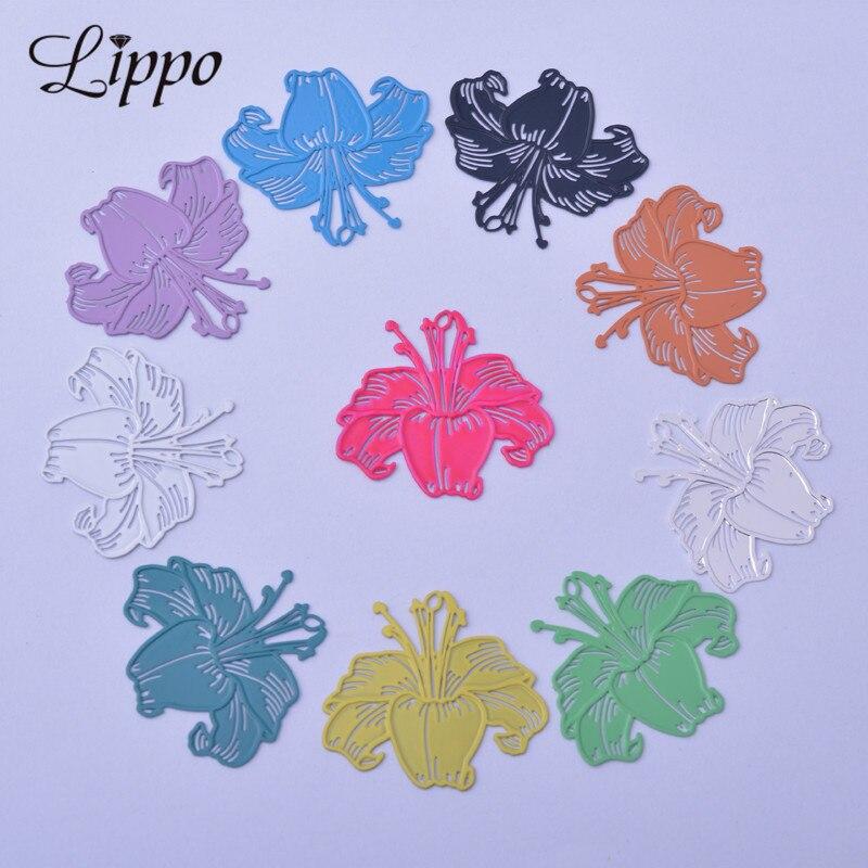 50pcs AB6163 24*27mm Fleur-de-lis breloques Iris breloques lys pendentif boucle doreille résultats