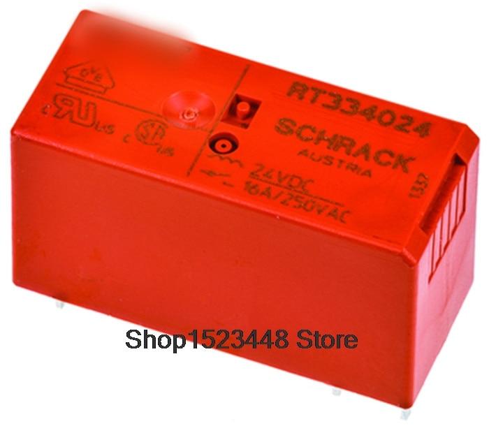 10pcs/lot New  RT334024 16A  RT334024-24v   24vdc 25vac 6PIN
