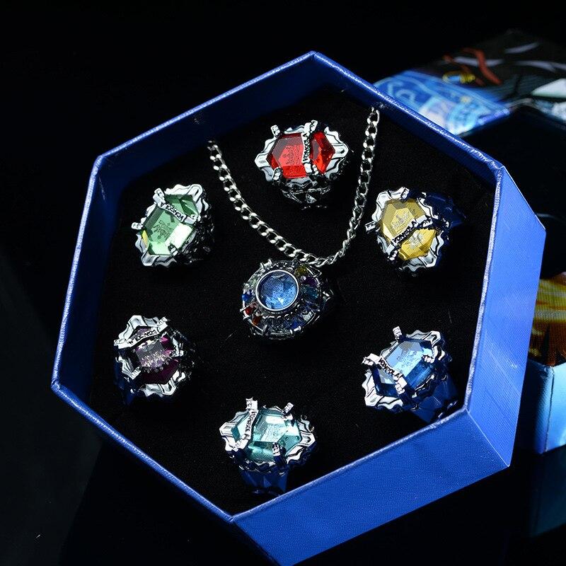 ¡Anime Hitman Reborn! Pengo columna anillo collar armas de utilería Sawada Tsunayoshi...