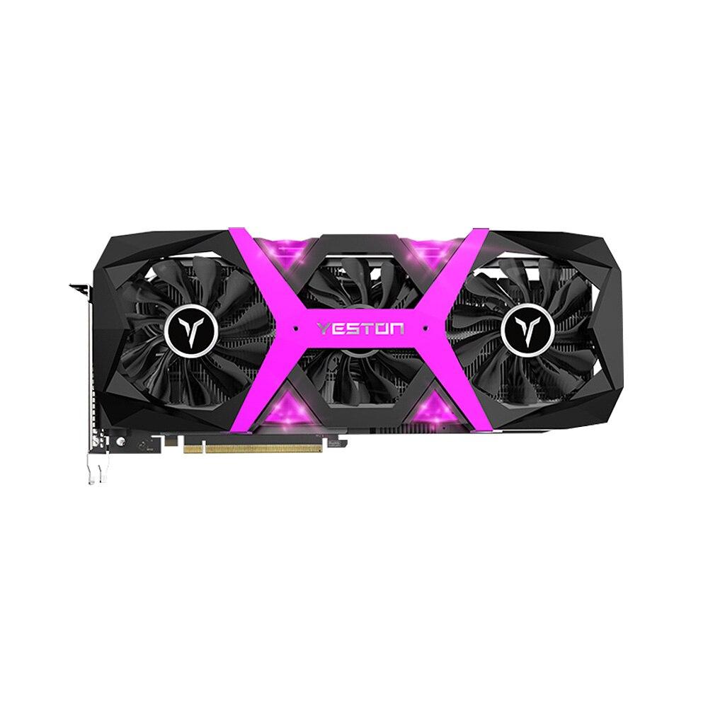 Yeston Radeon RX 590 RX590 8G tarjeta gráfica GDDR5 256bit juego PCI Express x16 3,0 juegos de vídeo DVI-D + HD + 3DP para escritorio