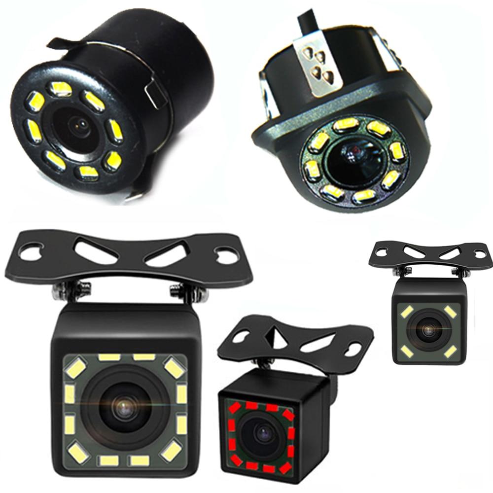 Автомобильная камера заднего вида, 12 светодиодный, ИК ночное видение, задний вид, автомобильная парковочная камера, s монитор, CCD, водонепрон...