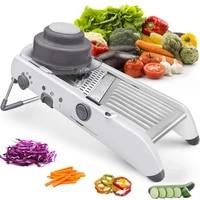 lmetjma 18 types adjustable mandoline slicer stainless steel vegetable julienner grater onion potato slicer cutter kc0326