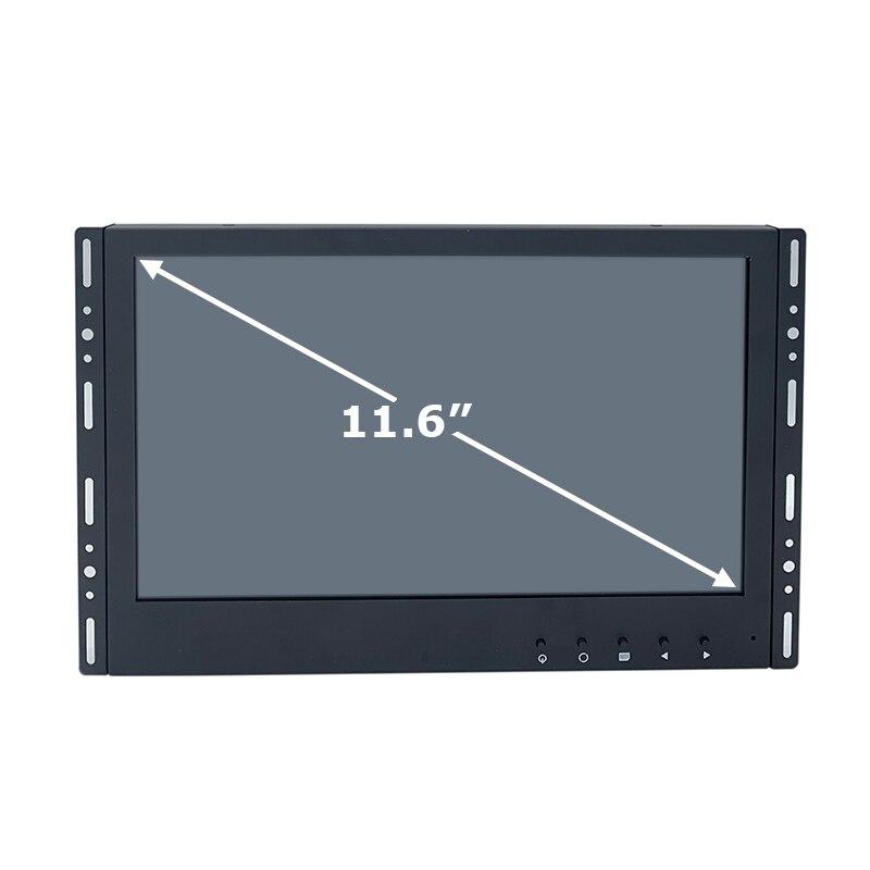 عريضة 16:9 11.6 بوصة الصناعية الصف 10 نقاط اللمس بالسعة شاشة عرض اللمس مع واجهة VGA HDMI USB