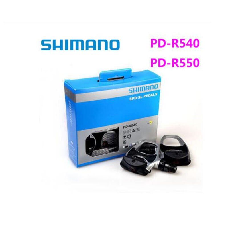 Shimano-pedales de bicicleta de carretera PD R540 R550, autobloqueo SPD, componentes de...