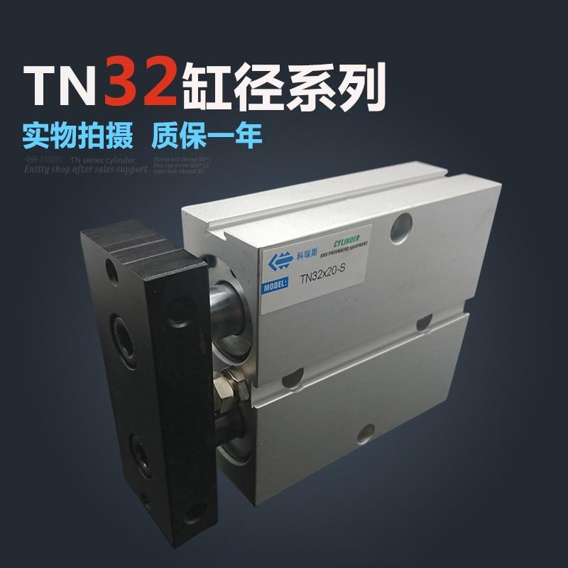 TN32 * 50 شحن مجاني 32 مللي متر تتحمل 50 مللي متر السكتة الدماغية المدمجة اسطوانات الهواء TN32X50-S العمل المزدوج الهوائية اسطوانة