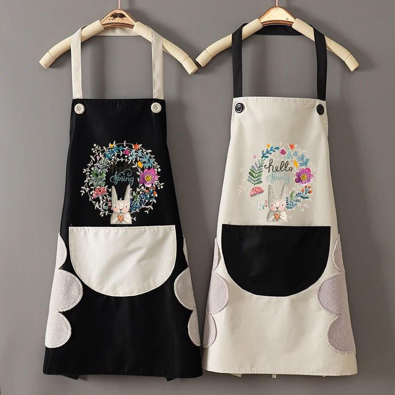 Высококачественные милые антижирные Кухонные фартуки для готовки, хлопковые льняные фартуки без рукавов, нагрудники для взрослых, аксессу...