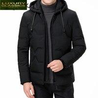 Куртка 2021 мода весна/осень для мужчин Муж пуховики и парки для мужчин мужские толстые теплые пальто приталенная куртка с капюшоном, парки, п...