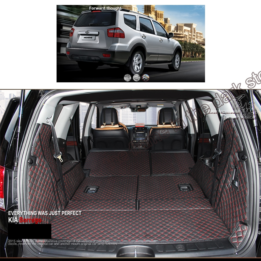 lsrtw2017 for kia mohave leather car trunk mat cargo liner 2009 2010 2011 2012 2013 2014 2015 2016 2017 2018  Borrego rear boot fit for volvo xc60 2009 2017 boot mat rear trunk liner cargo tray floor carpet protector 2010 2011 2012 2013 2014 2015 2016