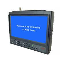 KPT-716S/t 7 polegada lcd DVB-T2 DVB-S2 satfinder hevc completo hd digital satélite localizador medidor h.265 módulo receptor sat finder