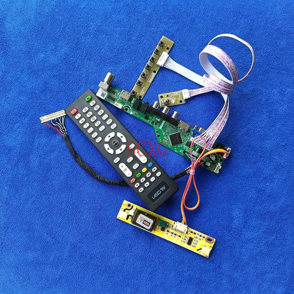 2CCFL LCD محرك بطاقة وحدة التحكم ل LM171W02/LM171WX3/LP171WP3 التناظرية إشارة LVDS 30 دبوس HDMI متوافق USB AV VGA 1440*900 عدة