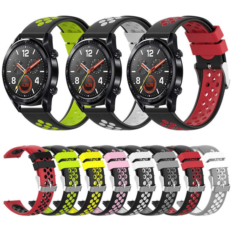 Pulseras de silicona para HUAWEI WATCH GT Active 46/elegante correa de 42 bandas para Honor Magic/HUAWEI WATCH pulsera de reloj 2/2 Pro