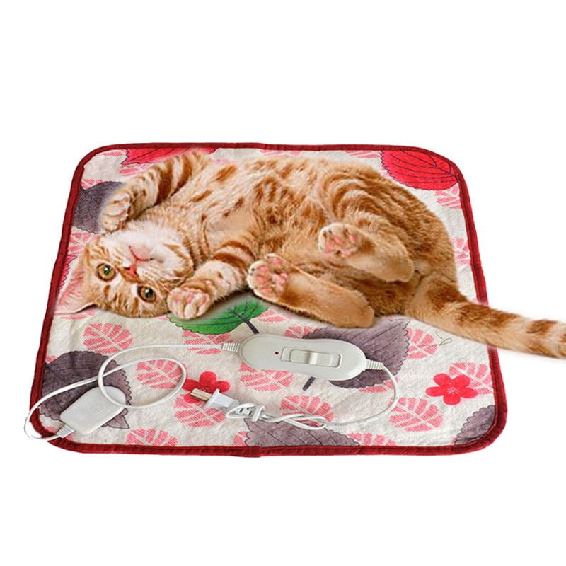 40*60cm pet quente calor elétrico aquecimento aquecimento aquecedor almofada esteira cobertor cama gato do cão