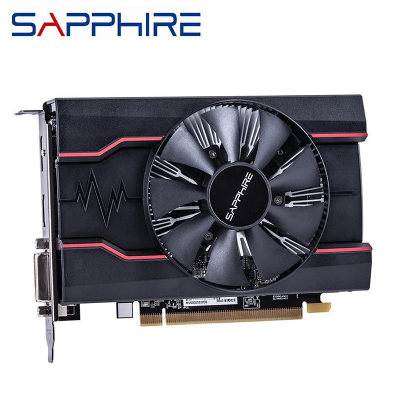 Original SAPPHIRE RX 550 2GB Video Cards GPU AMD Radeon RX550 2GB GDDR5 Graphics Cards PC Desktop Computer Game Map PCI-E X16